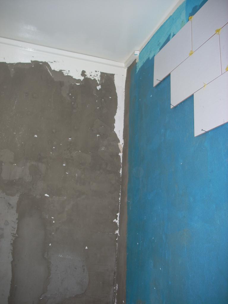 Renovation complet de salle de bain for Peinture faux plafond